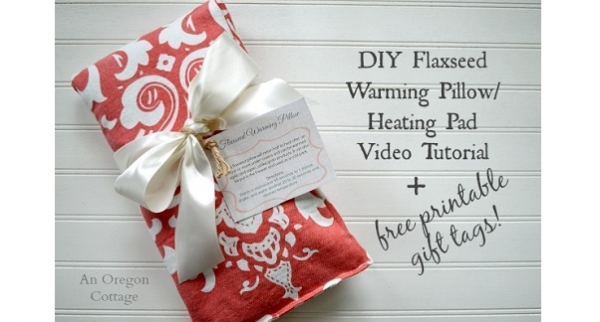 Video tutorial: Flaxseed heating pads, plus printable gift tags