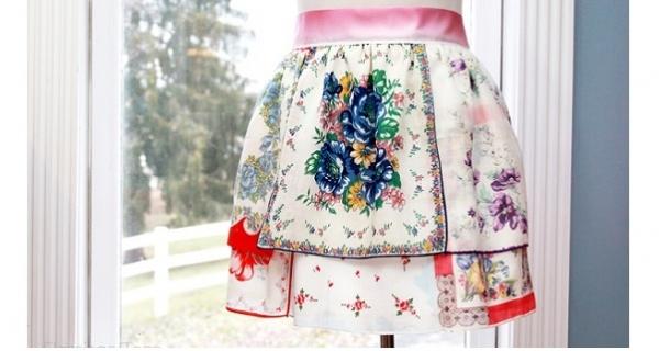 Tutorial: Vintage handkerchief apron