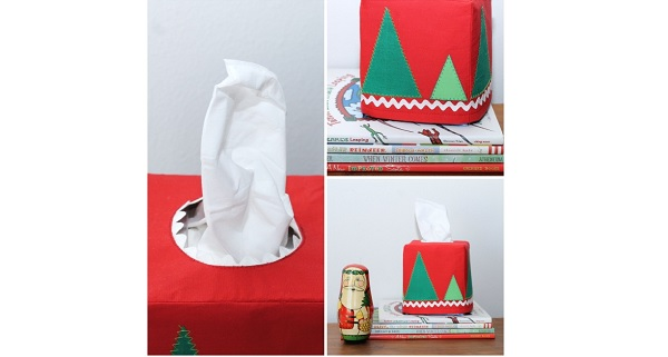 Tutorial: Modern Christmas Tissue Box Cover