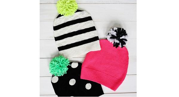 Tutorial: Sweater pom pom hat