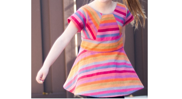 Free pattern: Rainbow Pieced Peplum for little girls
