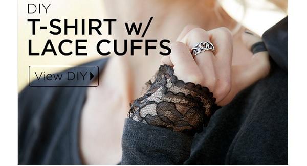 Tutorial: Lace cuff t-shirt