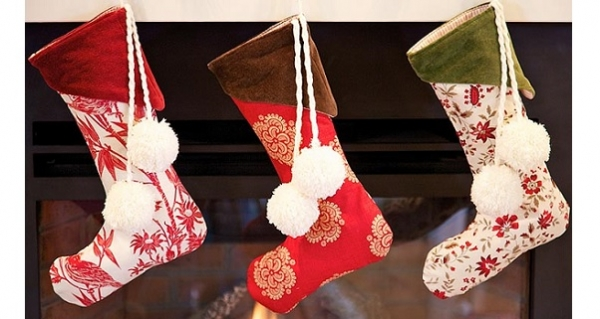 free pattern velvet cuff christmas stockings sewing - Velvet Christmas Stockings