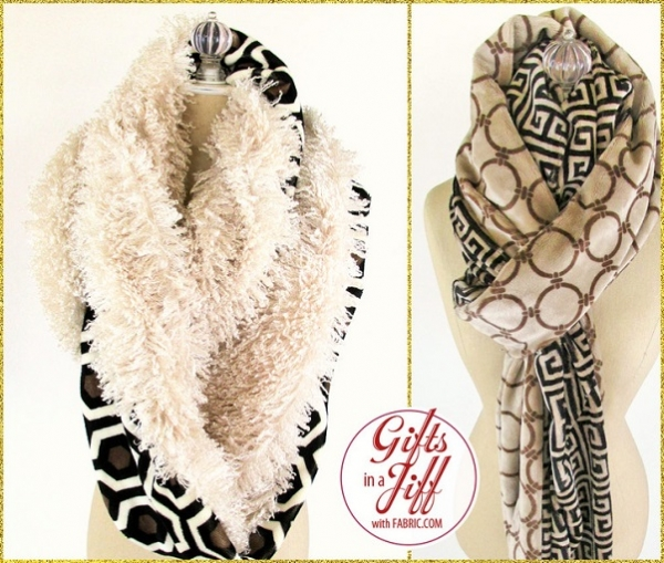 Tutorial: Fleece and faux fur infinity scarf