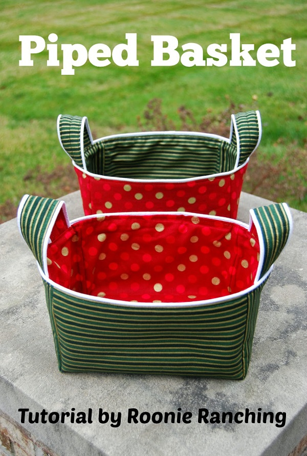 Tutorial: Piped fabric basket