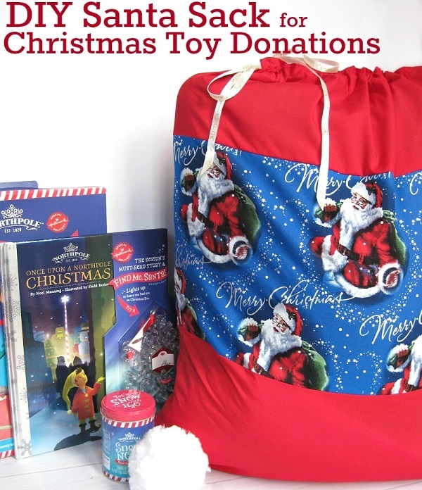 Tutorial: Drawstring Santa sack for Christmas toy donations