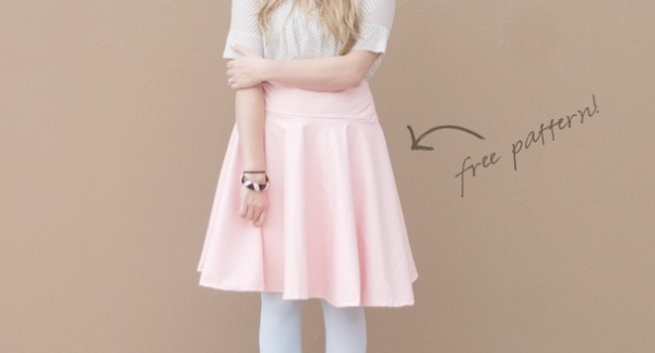 Free pattern: Faux leather circle skirt
