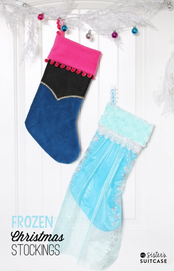 Tutorial: No-sew Frozen princess Christmas stockings