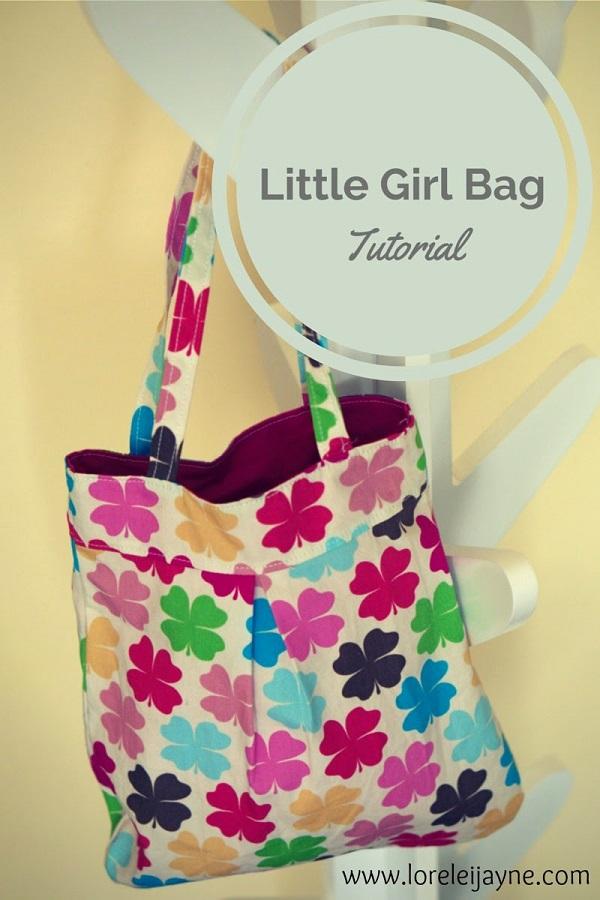 Free Pattern Little Girls Pleated Purse Sewing