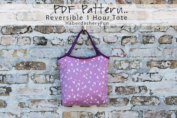 Free pattern: 1-hour Reversible Tote