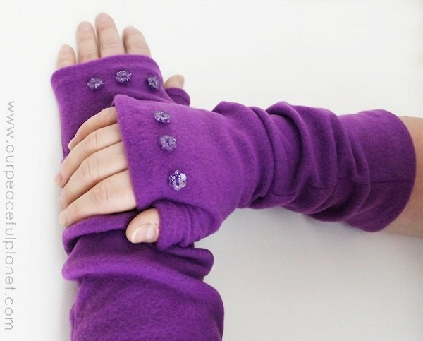 Tutorial: Easy fleece arm warmers