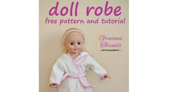 "Free pattern: Bath robe for an 18"" doll"