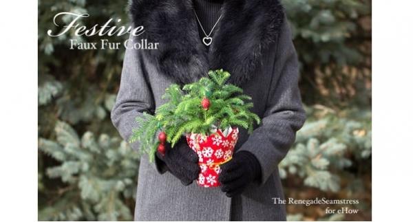 Tutorial: Removable faux fur coat collar