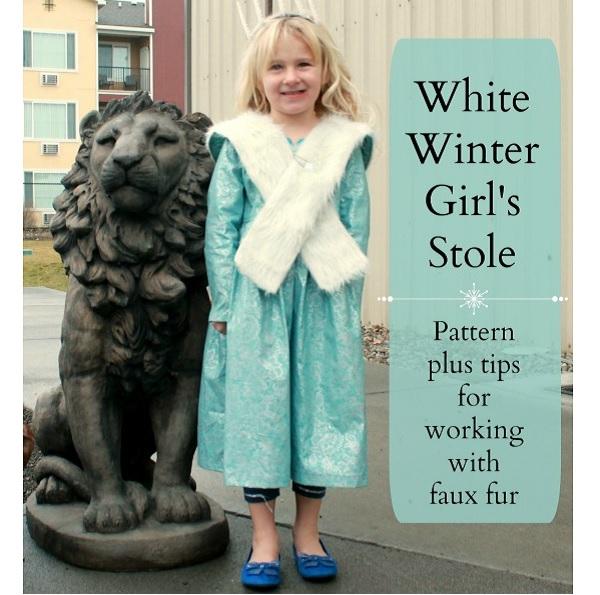 Free pattern: Girls faux fur winter stole
