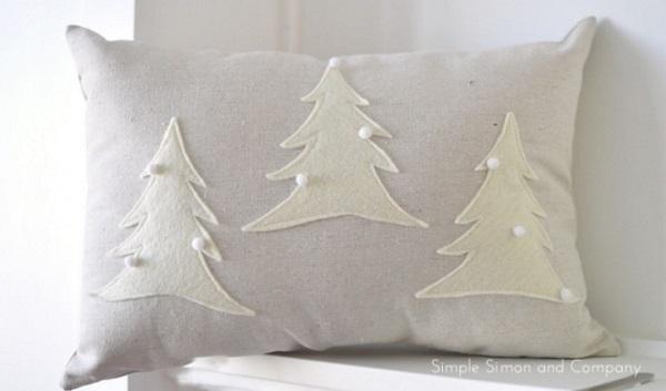 Tutorial Simple Felt Christmas Pillows Sewing