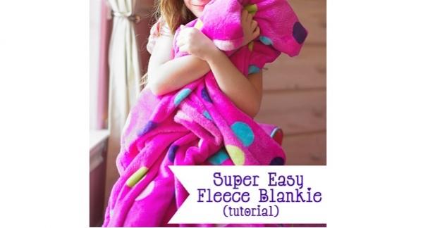 Tutorial: Easy fleece blanket