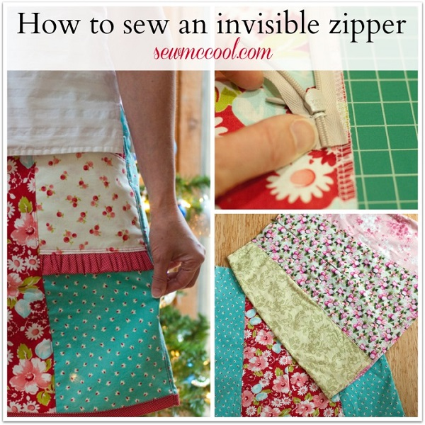 Tutorial: How to sew an invisible zipper