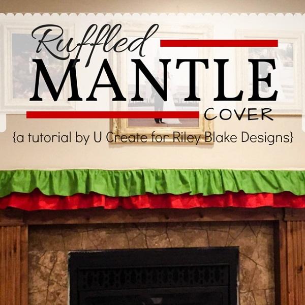 Tutorial: Ruffled mantel cover