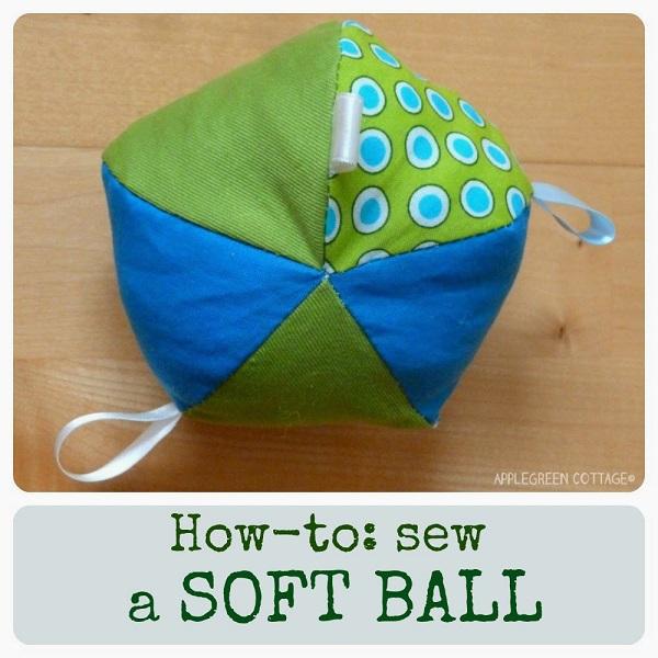 Tutorial: Sew a soft fabric ball toy