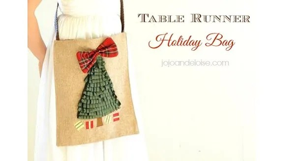 Tutorial: Holiday table runner purse