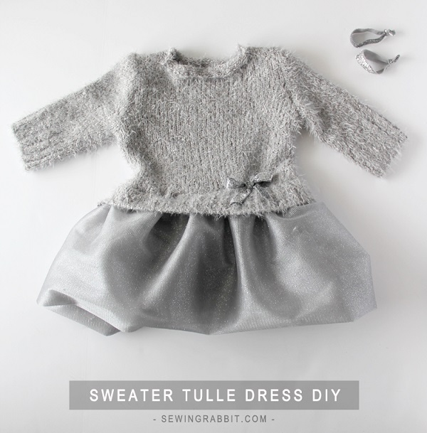 Tutorial: Little girl's sweater and tulle dress