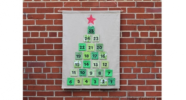 Tutorial: Advent calendar with removable pockets