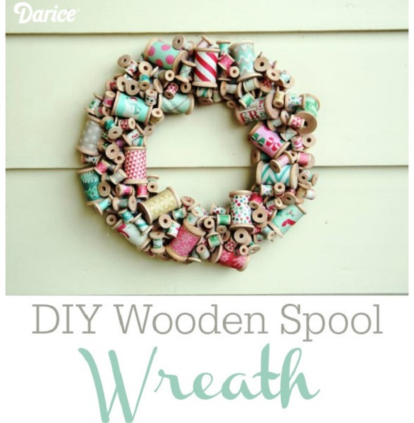 Tutorial: Wooden spool wreath