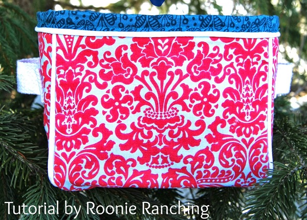 Tutorial: Boxy fabric basket with piping