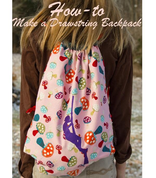 Tutorial: Easy drawstring backpack