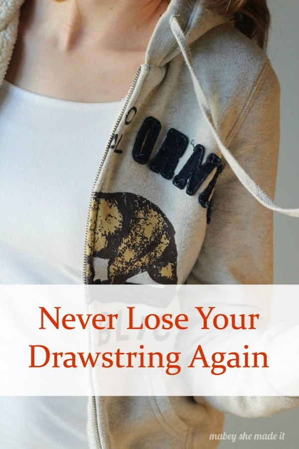Tutorial: Fix a drawstring so it doesn't get lost