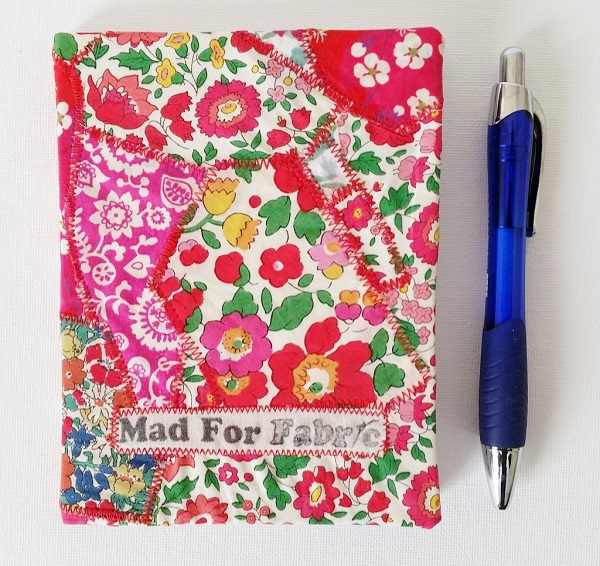 Tutorial: Scrap fabric covered notebook