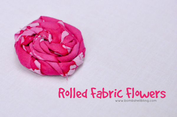 Tutorial: How to make a rolled fabric flower