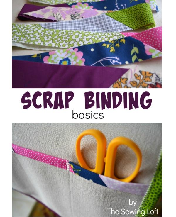 Tutorial: Scrap fabric binding