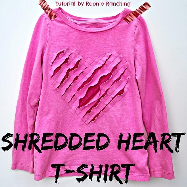 Tutorial: Shredded heart t-shirt