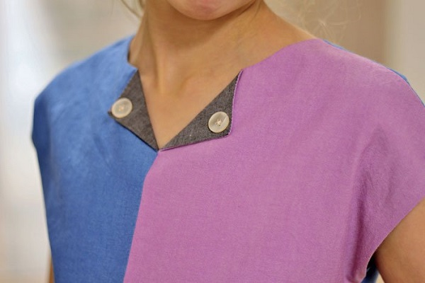 Tutorial: Notch neckline with buttons