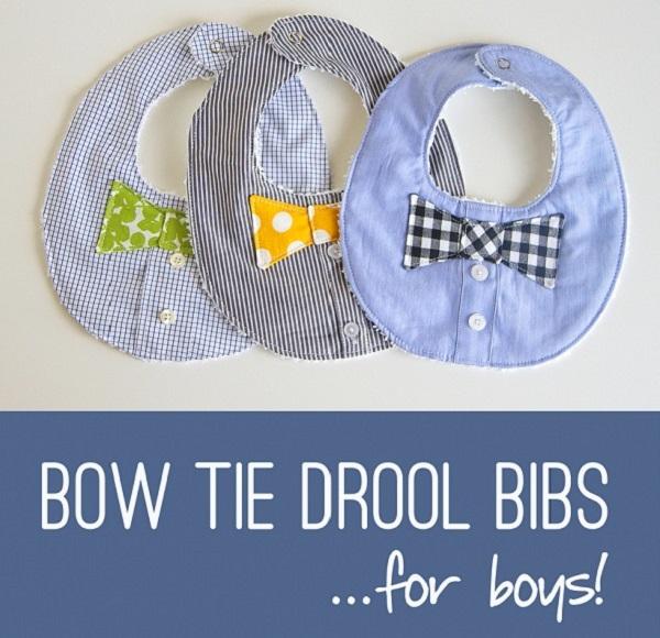 Tutorial: Baby boy's bow tie drool bib