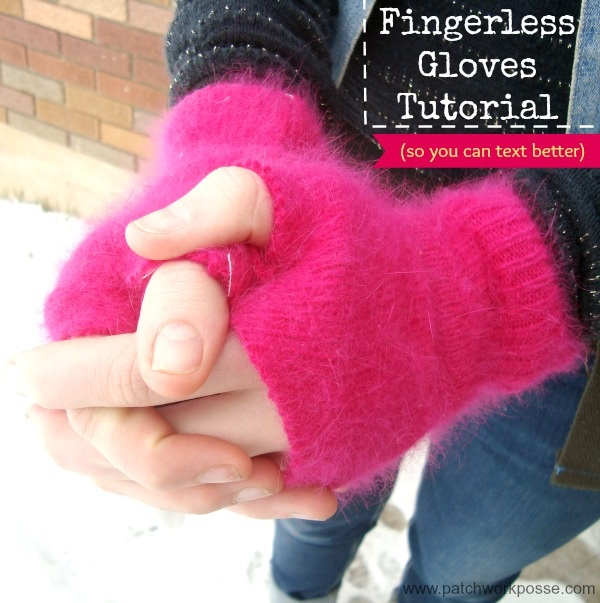 Tutorial: DIY fingerless gloves