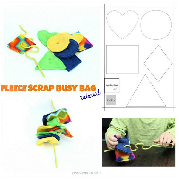Tutorial: Fleece scrap busy bag threading game