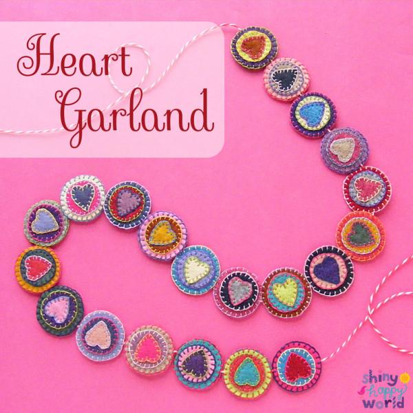 Tutorial: Felt heart garland