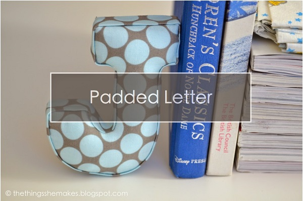 Tutorial: No-sew padded monogram for your home decor