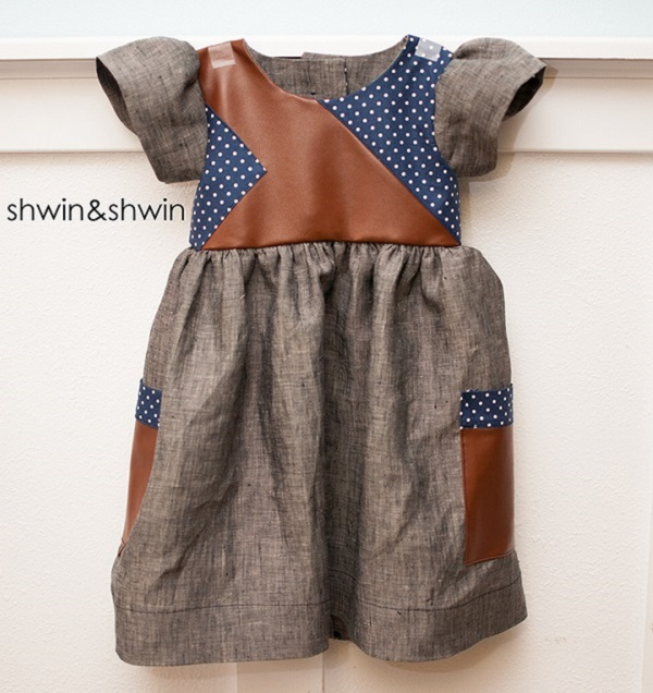 Free pattern: Modern pieced bodice dress for little girls