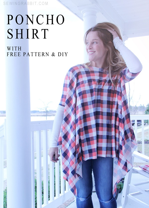 Free Pattern Poncho Shirt Sewing