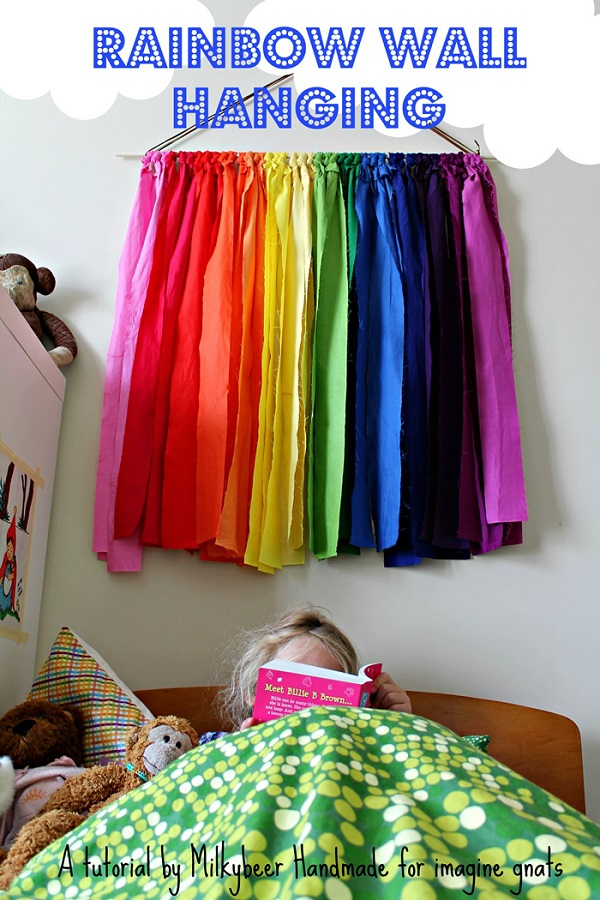 Tutorial: Fabric rainbow wall hanging, no sewing required