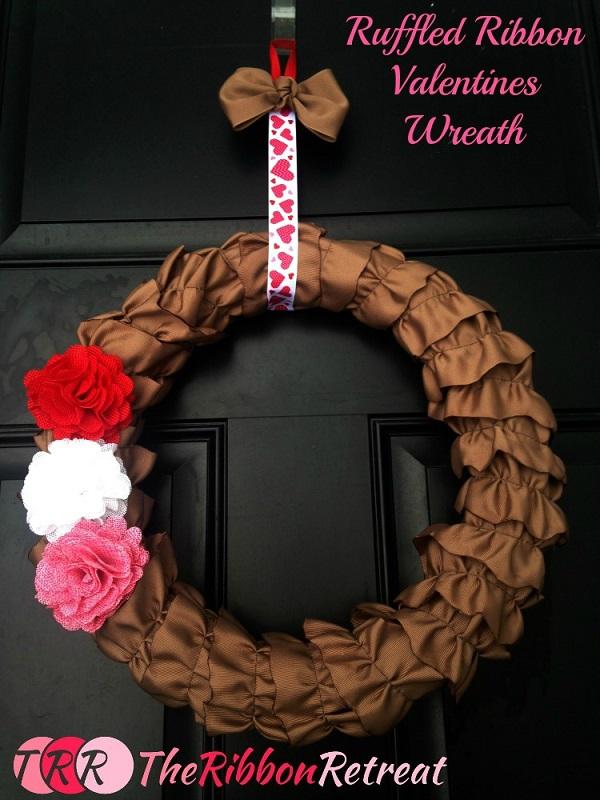 Tutorial: Ruffled ribbon wreath