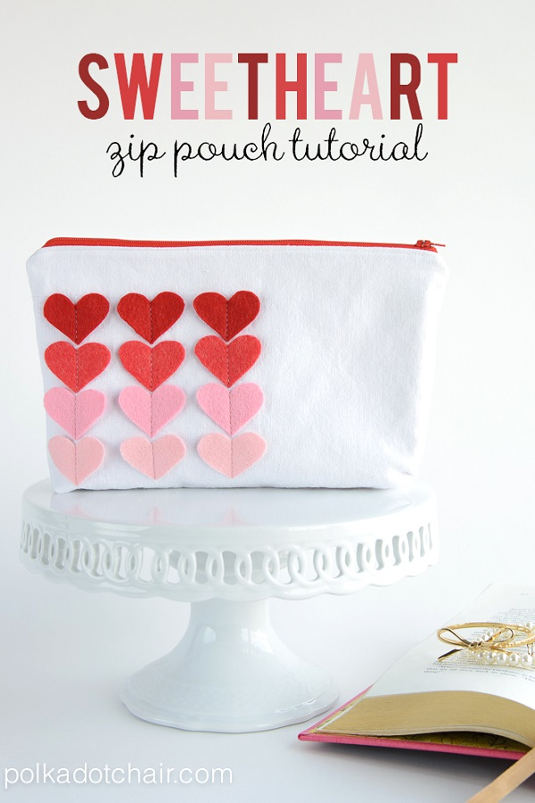 Tutorial: Sweet Heart Zip Pouch