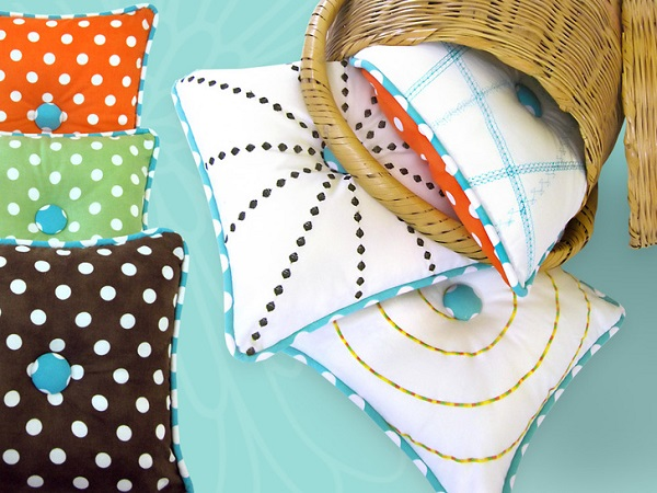 Sewing Decorative Bed Pillows : Tutorial: Use your sewing machine s decorative stitches to create these fun pillows ? Sewing