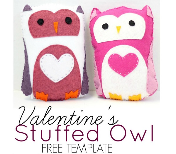 owl templates for sewing - free pattern valentine s owl softie sewing