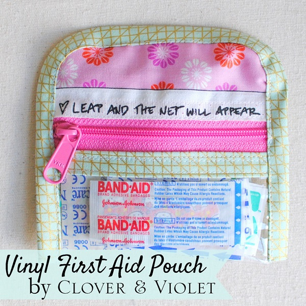 Tutorial: Vinyl window first-aid pouch you can slip in your purse
