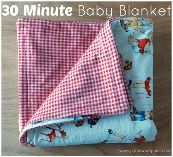 Tutorial: 30 minute flannel baby blanket