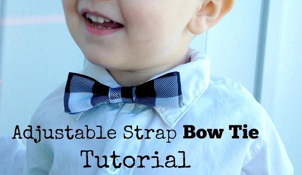 Tutorial: Adjustable strap bow tie